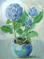 prints of flowers for sale sheila graber blue hydranger